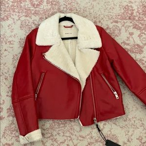 Blank nyc red moto jacket